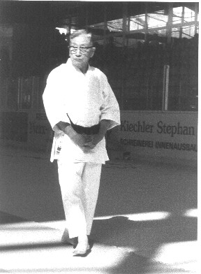 Master Kamata-Watanabe The last senior student of Master Funakoshi still teaching at Waseda Karate Club.